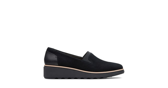 Clarks Sharon Dolly Black Suede 26136359 Shoe