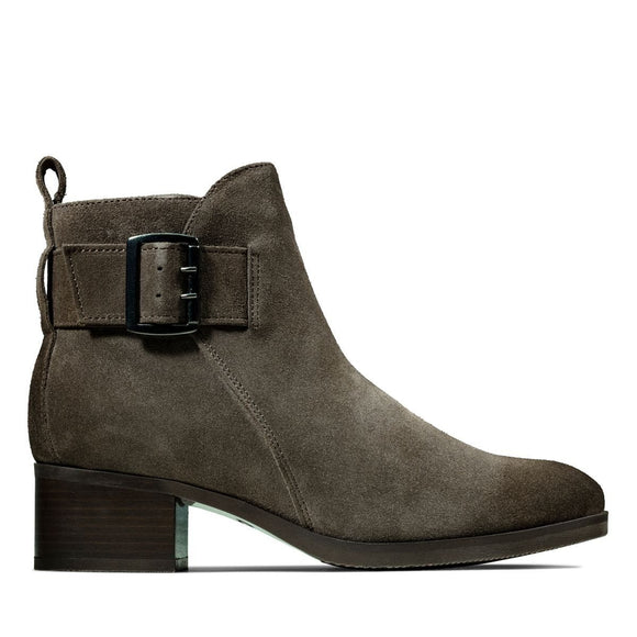 Clarks Mila Charm Taupe Suede 26143466 Boot