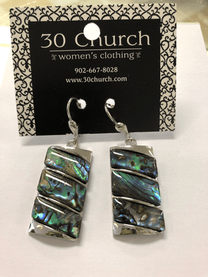 Iridescent Twisted Earring