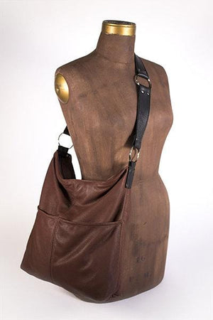 Hides in Hand Bucket Bag W/Pocket Brown HBBUCKET-BR
