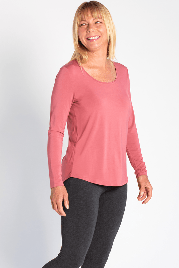 Terrera Charis Long Sleeve T-Shirt - Deep Rose