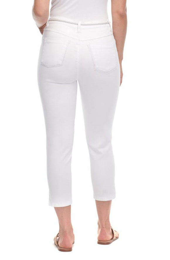 FDJ Suzanne Crop Jeans in White - 6887511