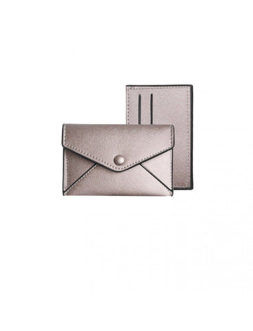 Caracol Small Case And Card Holder Rose Gold 7050