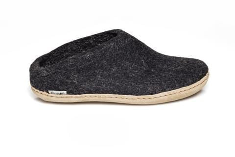 Glerup Charcoal Felt Slipper