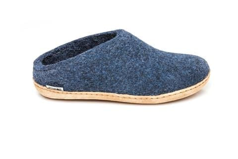Glerup Denim Felt Slipper