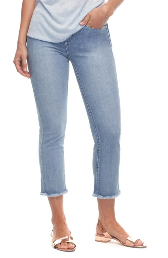 FDJ Olivia Straight Crop Jeans in Cloud Blue - 2986779