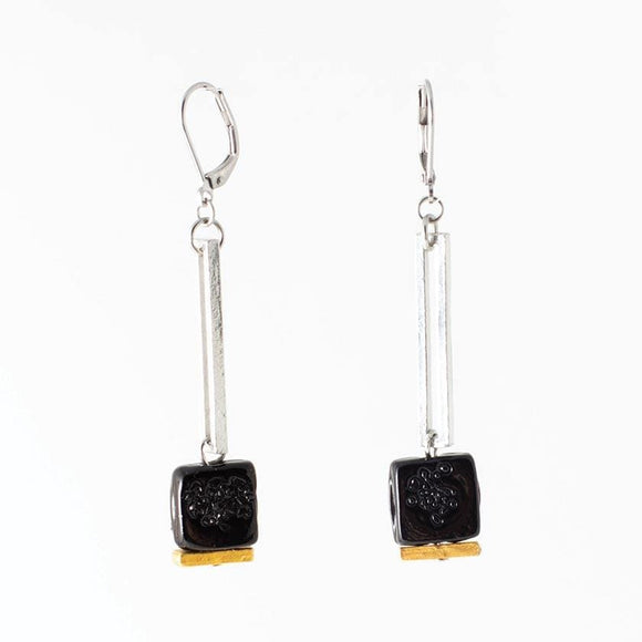 Anne-Marie Chagnon Lindsay Earrings - Corbeau Raven Earrings