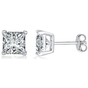 Supreme Silver Silver Stud Earring 6mm ES027C Jewellery
