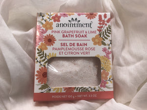 Anointment Pink Grapefruit & Lime Bath Soak PGBS100 Bath Products