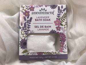 Anointment Lavender Bath Soak  LBS100 Bath Products