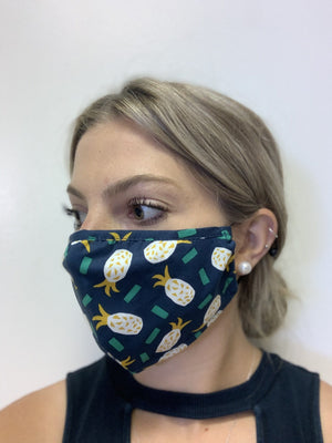 Papillion Pineapple Cotton Mask
