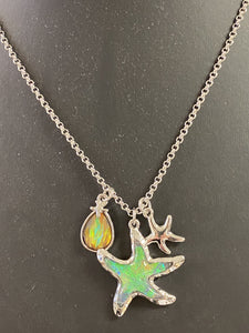 Stars and Teardrops Necklace