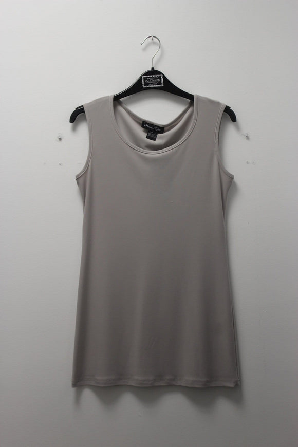 Michael Tyler Long Cami Ice Grey camisole