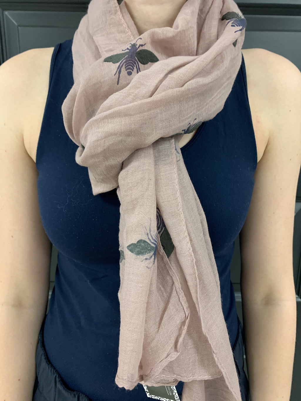 Pink Honey Bee Scarf