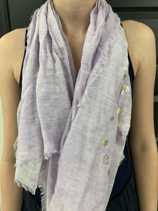 Fraas - Purple with Gold Accents Scarf