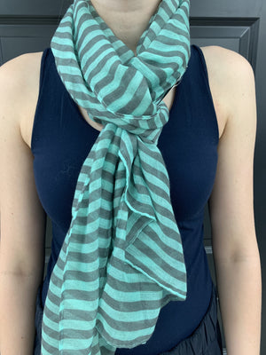 Striped Blues Scarf