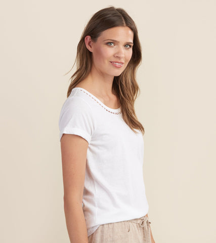 Hatley Cotton Linen Tee White S19WWL1293