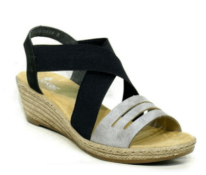 Rieker Black/Grey Sandal 62499-40