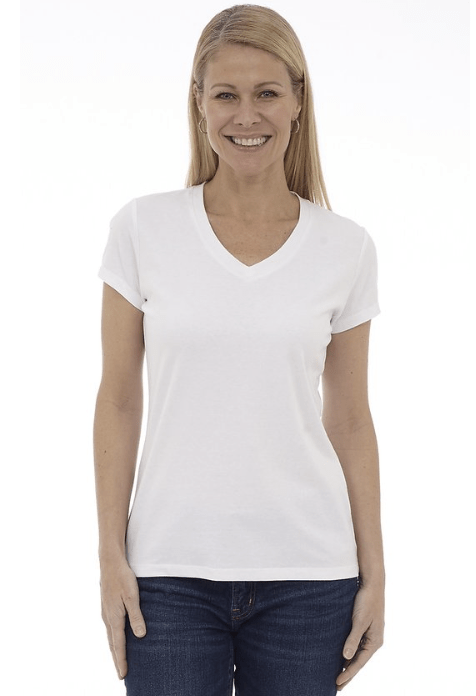 DKR V-Neck T-Shirt White CT-VN