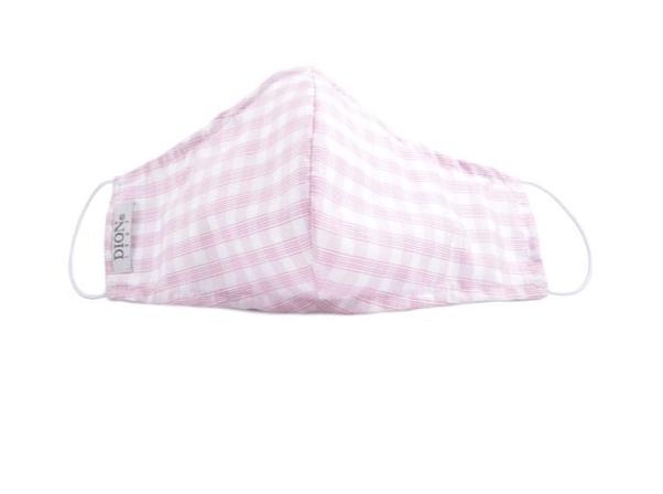 Dion Face Mask With Filter Pink Plaid