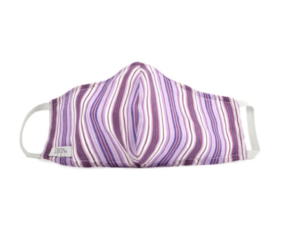 Dion Face Mask With Filter Purple Stripes