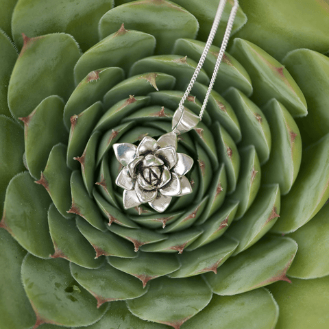 Justine Brooks Succulent Necklace