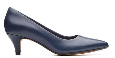 Clarks Linvale Jerica Navy Leather 26137211