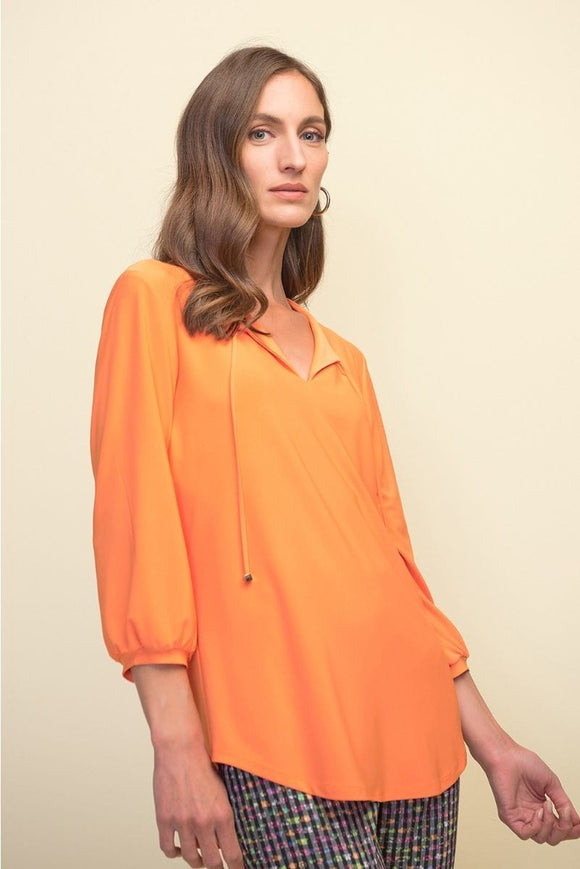 Joseph Ribkoff Ladies Top in Tangerine - 211191 (T)