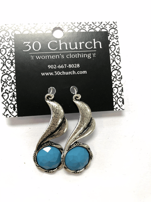 Silver and Blue Wrap Earring