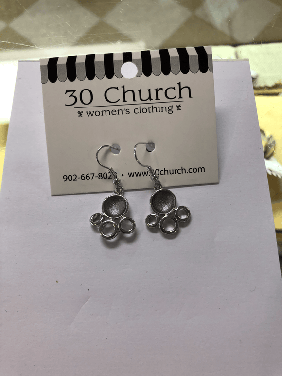 Charcoal Silver Circle Earrings Jewellery