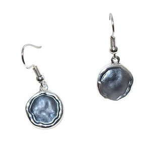 Bead World Round Grey Earrings ER02530 Earrings
