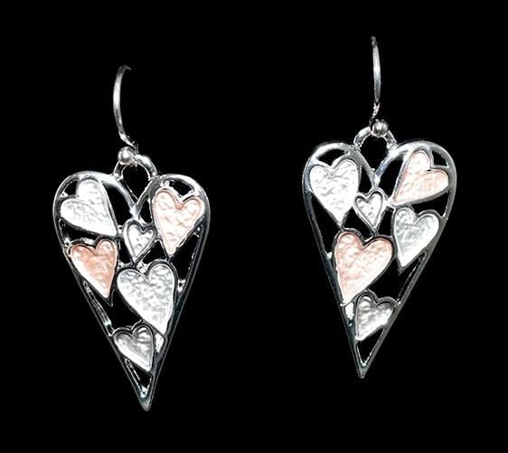 Bead World Multi Heart Earrings ER02782 Earrings