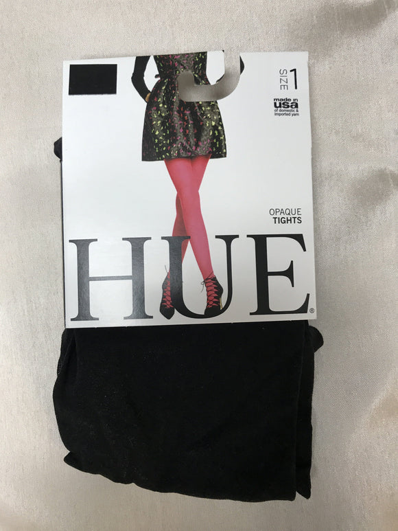 Hue Tights Black Opaque Tights