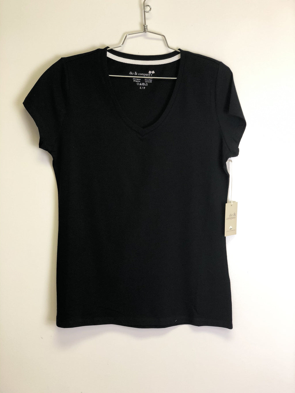 DKR V-Neck T-Shirt Black CT-VN