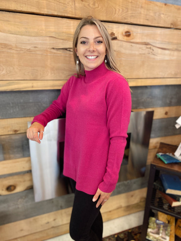 Tribal Cashmere Hot Pink Sweater - 39550 Sweater