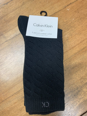Calvin Klein Combed Cotton 2 Pack Black MCD629-00