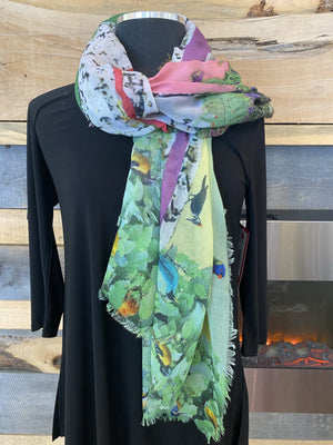 Fraas TH!NK Eco Scarf - Light Green - 602012 700