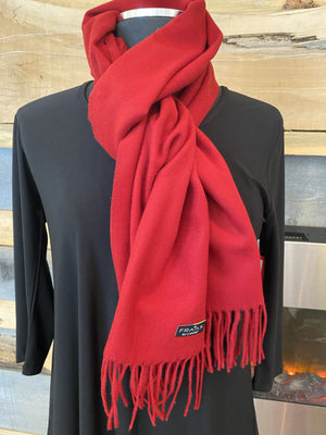 Fraas Solid Pure polyacrylic scarf - Classic Red - 6625029 361