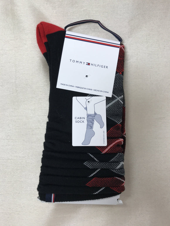 Tommy Hilfiger Socks Argyle Black MTD614-00 Socks