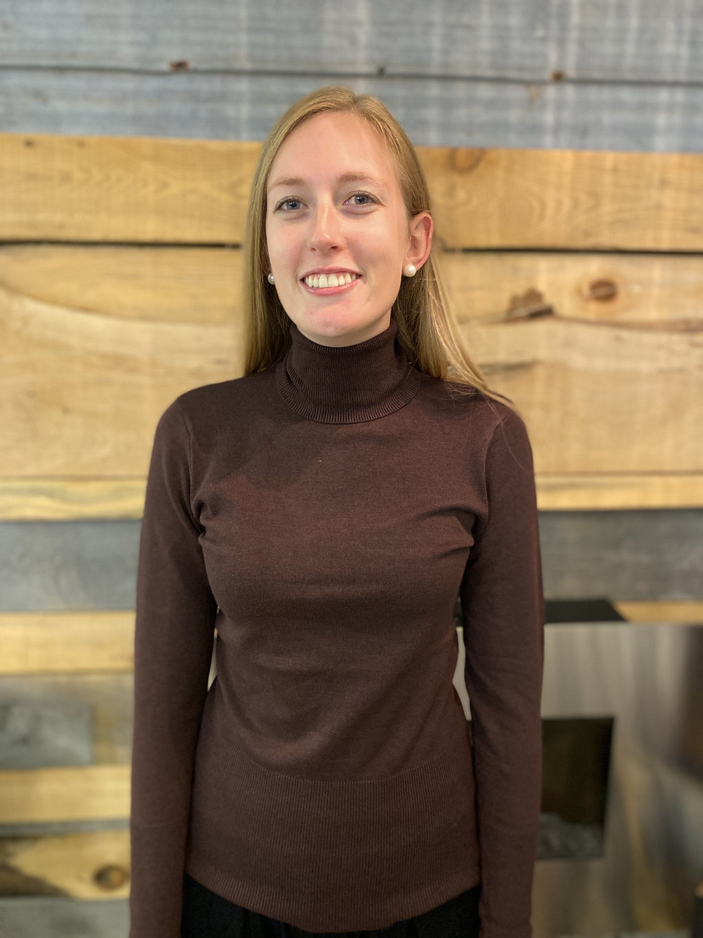 Soyaconcept Maroon Turtle Neck - 32992