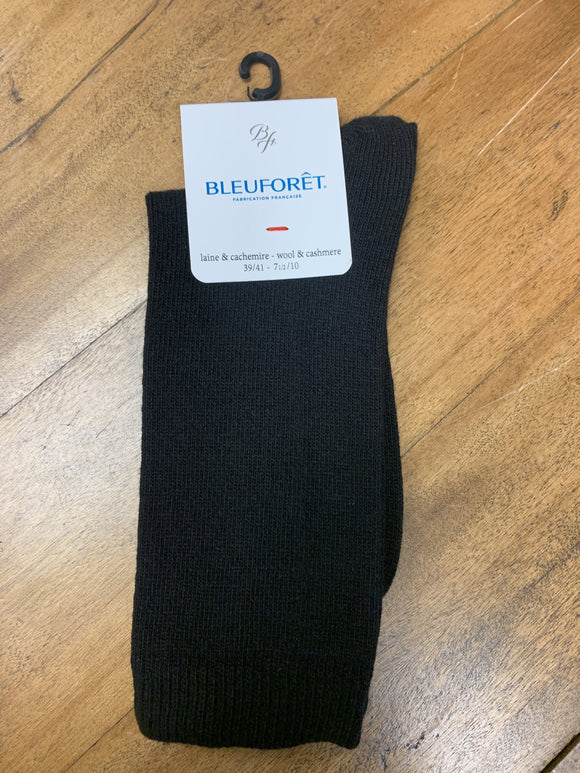BLEUFORET Cashmere Sock Black 6095 Socks