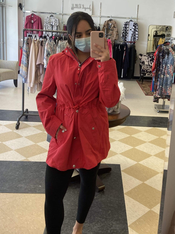 Joules Shoreside Waterproof jacket in Red - 212743