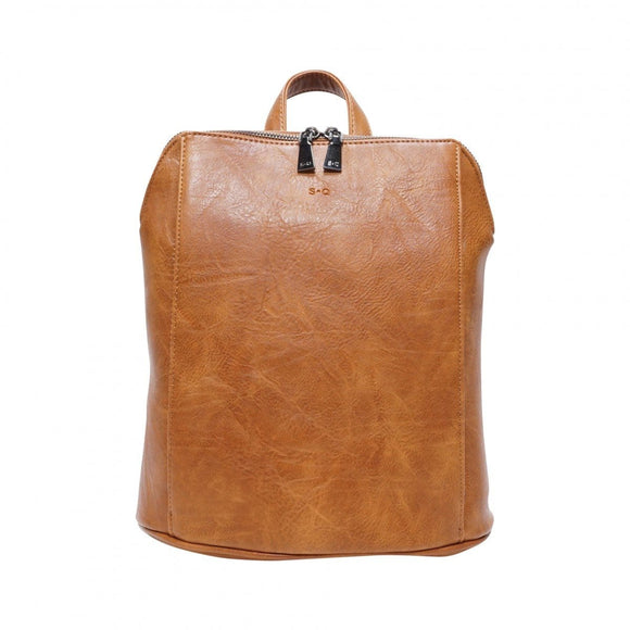 S-Q Melody-Convertible Backpack-Camel SQ20005 Bag