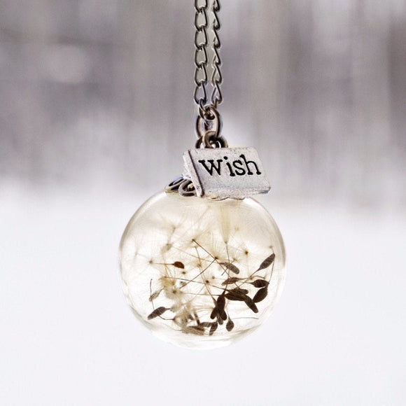 Justine Brooks Dandelion Wish Necklace Jewellery