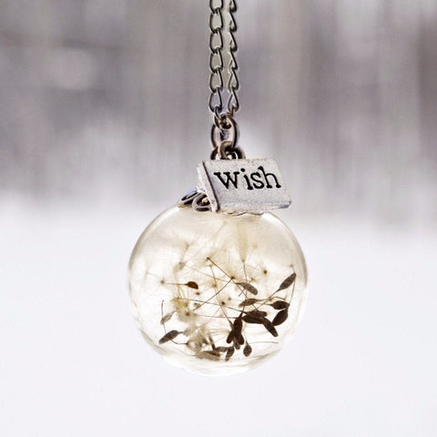 Justine Brooks Dandelion Wish Necklace