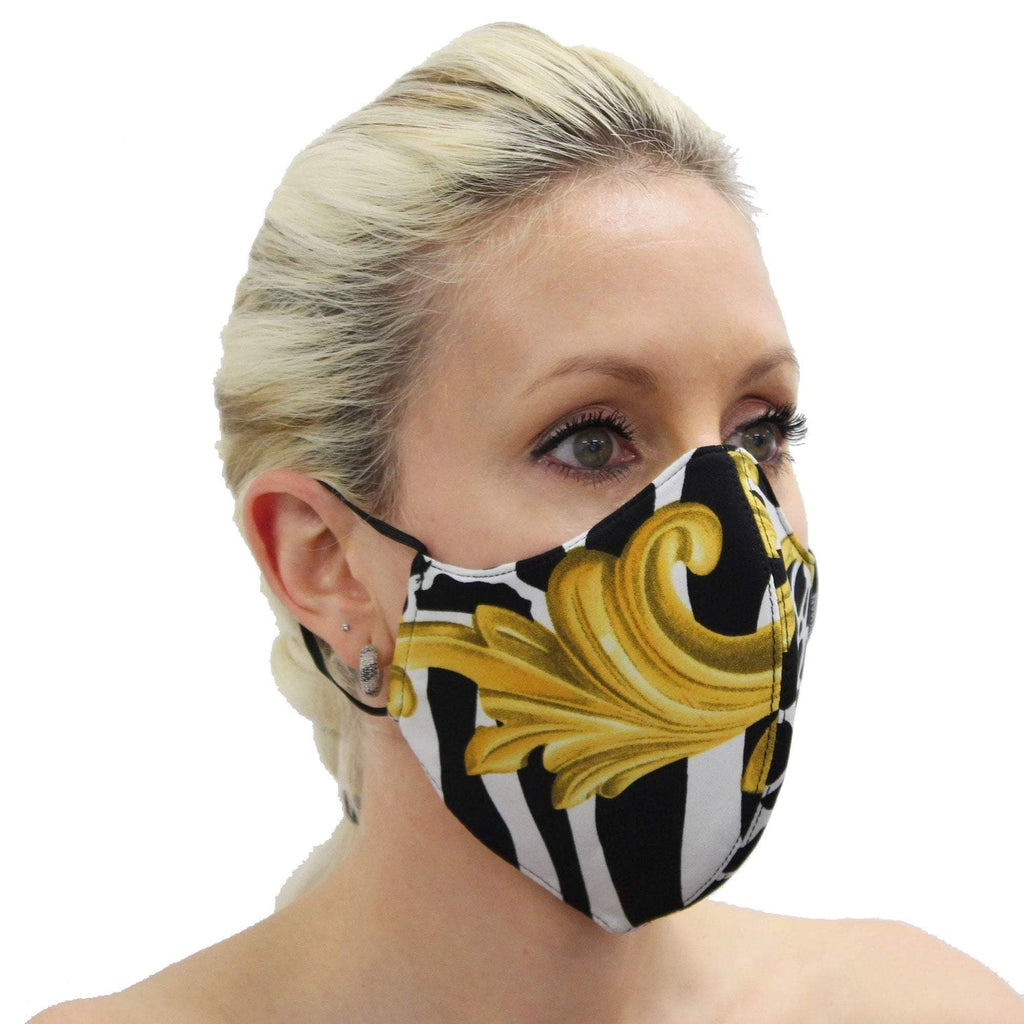 Frank Lyman Black, White & Gold Mask