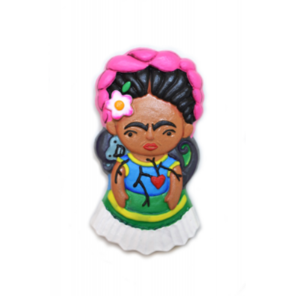 "Frida ""Miko"" Clay Magnet"