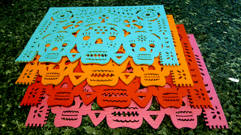 Three Skulls Placemat Set