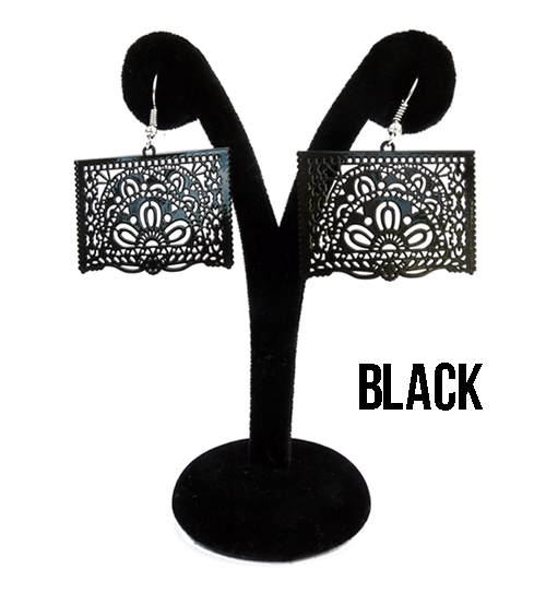 "Papel Picado Earrings, ""Ala"""