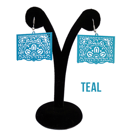 "Papel Picado style ""Ala"" Earrings"